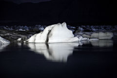 Icebergs at night. Jokulsarlon lagoon Iceland Stock Image