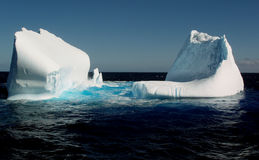 Icebergs in ocean stock photo