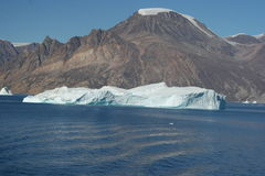 Icebergs off Greenland Stock Images