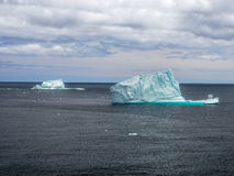 Icebergs on open ocean Royalty Free Stock Photography