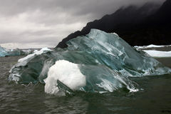 Icebergs - Patagonia - Chile - South America. Icebergs near the San Rafael Glacier in Patagonia in Chile South America Royalty Free Stock Photos