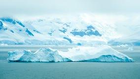 Icebergs que flotan en la bahía del paraíso, la Antártida Foto de archivo libre de regalías