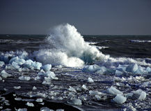 Icebergs quebrados Foto de archivo