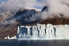 Icebergs - Scoresbysund - Greenland. Icebergs in the fjord of Scoresbysund on the east coast of Greenland Stock Photo