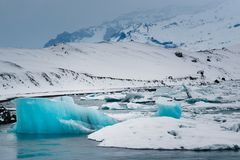 Icebergs in the sea stock photo