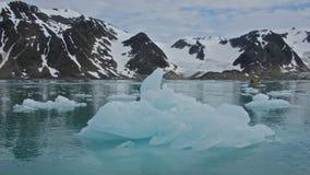 Icebergs in Smeerenburgfjorden, Svalbard Stock Image