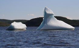 Icebergs in St. Anthony Bight Royalty Free Stock Images