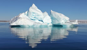 Icebergs. In the still waters of Arctic ocean stock photography