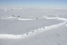 Icebergs tabulares Imagen de archivo