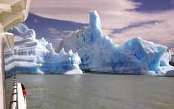 Icebergs from Upsala Glacier in the Argentino Lake, Argentina Royalty Free Stock Image