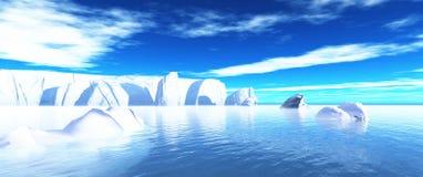 Icebergs in water 02 Stock Photos