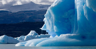 Icebergs in the water, the glacier Perito Moreno. Argentina. stock photo