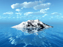 IcebergX. Big antarctic  iceberg - 3d landscape scene Stock Photo