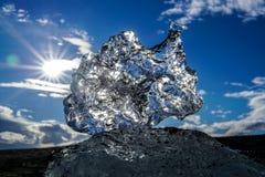Iceblock en la sol fotografía de archivo libre de regalías