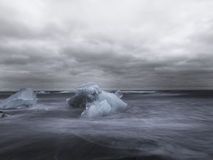 Iceblocks in a storm Royalty Free Stock Photo