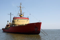 Icebreaker anchored Royalty Free Stock Photo