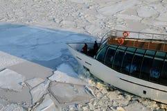 Icebreaker breaks the ice Royalty Free Stock Image