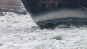 Icebreaker on the Danube stock footage