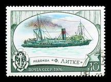 Icebreaker Fyodor Litke, Nationale icebreaker vloot serie, circa royalty-vrije stock fotografie