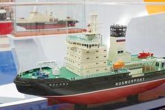 Icebreaker het model van Moskva Stock Foto's