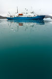 Icebreaker in Icy Water Royalty Free Stock Images