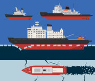 Icebreaker infographics Stock Photos