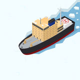 Icebreaker Isometric View. Vector Stock Photography