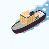 Icebreaker Isometric widok wektor ilustracja wektor
