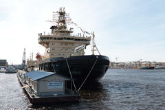 Icebreaker Moscow Stock Photography