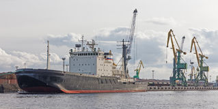 Icebreaker at the pier Stock Photography