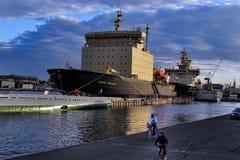 Icebreaker in the port Stock Photo
