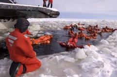 Icebreaker reis in Finland Royalty-vrije Stock Foto