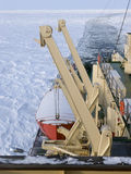 Icebreaker at sea Royalty Free Stock Images