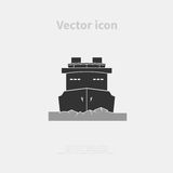 Icebreaker ship icon Royalty Free Stock Photos