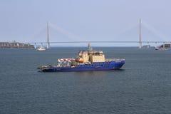 Icebreaker ship stock image
