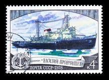 Icebreaker Vasili Pronchishchev, Nationale icebreaker vloot serie royalty-vrije stock afbeeldingen