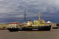 Icebreakers festival in St. Petersburg, Russia. Icebreaker IVAN KRUZENSHTERN.  royalty free stock photography