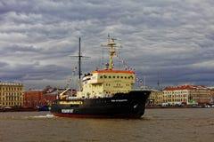 Icebreakers festival in St. Petersburg, Russia. Icebreaker IVAN KRUZENSHTERN Stock Images