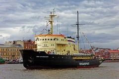 Icebreakers festival in St. Petersburg, Russia. Icebreaker IVAN KRUZENSHTERN Stock Photos