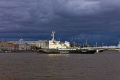 Icebreakers festival in St. Petersburg, Russia. Icebreaker IVAN. KRUZENSHTERN stock images