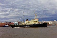 Icebreakers festival in St. Petersburg, Russia. Icebreaker IVAN KRUZENSHTERN.  royalty free stock images