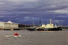 Icebreakers festival in St. Petersburg, Russia. Icebreaker IVAN KRUZENSHTERN Royalty Free Stock Photography