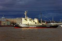 Icebreakers festival in St. Petersburg, Russia. Icebreaker IVAN KRUZENSHTERN.  stock photo