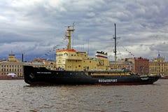 Icebreakers festival in St. Petersburg, Russia. Icebreaker IVAN KRUZENSHTERN.  stock photos