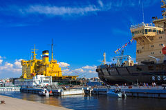 Icebreakers festival in St. Petersburg, Russia. May 2-3, 2016. Royalty Free Stock Photo
