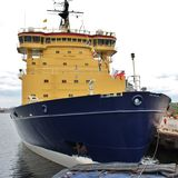 The icebreakers in Luleå Royalty Free Stock Images