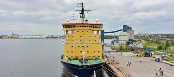 The icebreakers in Luleå Royalty Free Stock Photography