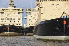 Icebreakers vessels on Helsinki harbor. Finland arctic maritime Royalty Free Stock Photo