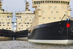 Icebreakers vessels on Helsinki harbor. Finland arctic maritime Stock Photos