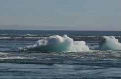 Beautiful iceburg in Iceland, in the waters of a lagoon Royalty Free Stock Images